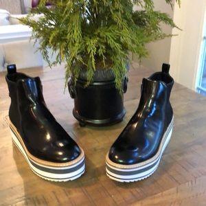 Zara Platform Patent Boots